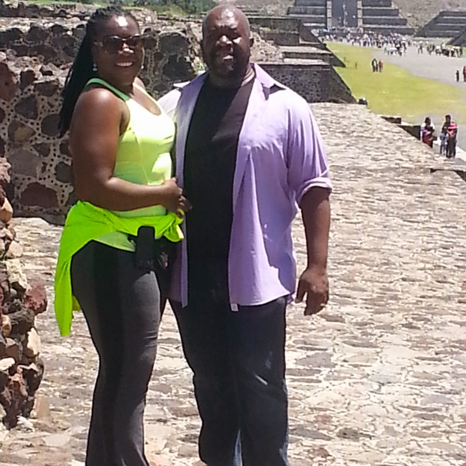 Earl & Alexis at Mexico City Pyramids 2