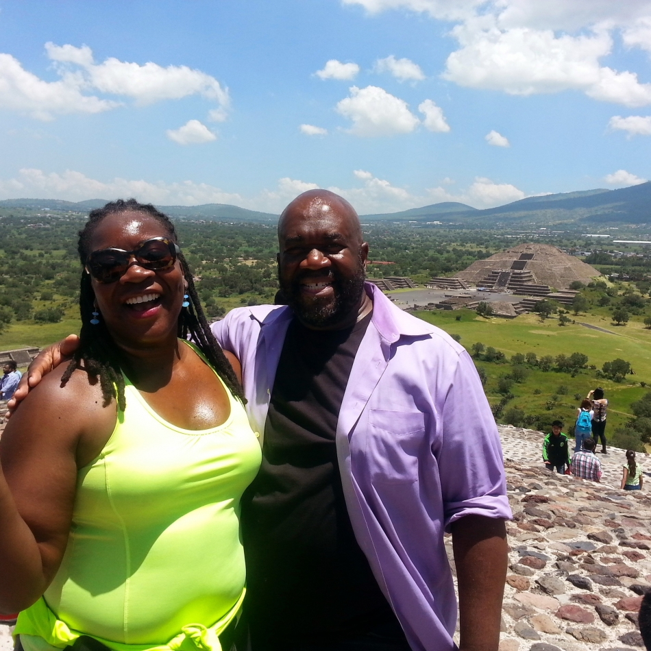 Earl & Alexis at Mexico City Pyramids 3
