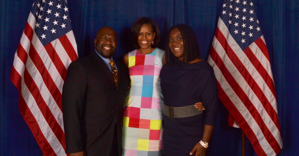 Earl & Alexis with The FLOTUS in Tucson, AZ, 2012, 2
